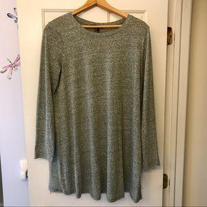 Forever 21 Dresses - Green longsleeved t-shirt dress